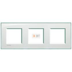Рамка 3-ая (тройная) прямоугольная, цвет Морская вода, LivingLight, Bticino