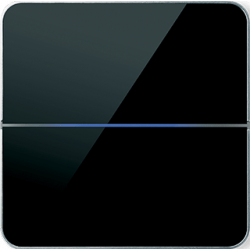 Basalte 203-03 Enzo лицевая панель 2 - клавишная - black glass