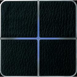 Basalte 204-13 Enzo лицевая панель 4 - клавишная - black leather