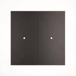2 - клавишный выключатель Tense KNX INTAB2 Aluminium Black
