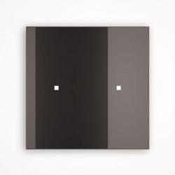 2 - клавишный выключатель Tense KNX INTGB2 Glass Black