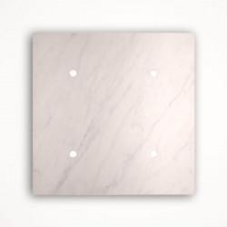 4 - клавишный выключатель Tense KNX INTSCBM4 Stone Carrara Bianco Marble