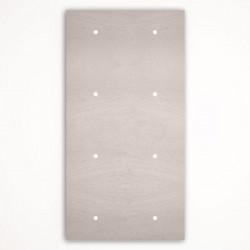 8 - клавишный выключатель Tense KNX INTSFW4 Stone French White