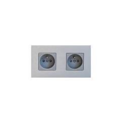 Розетка двойная Aluminium