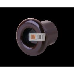 Втулка для вывода кабеля из стены Werkel Retro (2 шт.) керамика, коричневый